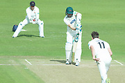 WICKET - Colin Ackemann is caught behind off Richard Gleeson during the Specsavers County Champ Div 2 match between Leicestershire County Cricket Club and Lancashire County Cricket Club at the Fischer County Ground, Grace Road, Leicester, United Kingdom on 26 September 2019.