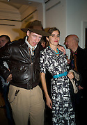 GAZ MAYALL; ELEANOR FAHRMAN, Damien Hirst party to preview his exhibition at Sotheby's. New Bond St. London. 12 September 2008 *** Local Caption *** -DO NOT ARCHIVE-© Copyright Photograph by Dafydd Jones. 248 Clapham Rd. London SW9 0PZ. Tel 0207 820 0771. www.dafjones.com.