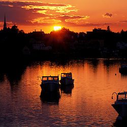 Portsmouth Harbor. Boats. Sunset. New England Scenics.  June.  Portsmouth, NH