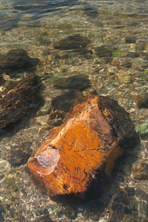 Partially Submerged Rock, Lower Negro Island, Castine, Maine, US