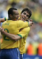 Jubel v.l. Cafu, Kaka Brasilien<br /> Fussball WM 2006 Achtelfinale Brasilien - Ghana<br /> Brasil - Ghana<br /> Norway only