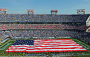 November 15, 2009, Nashville, Tennessee, USA;  The Tennessee Titans honor military veterans before Veterans Day with a huge American flag on the field at LP Field before the game with the Buffalo Bills.