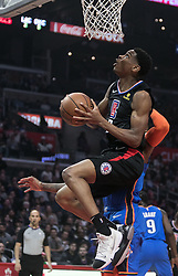 March 8, 2019 - Los Angeles, California, United States of America - Shai Gilgeous-Alexander #2 of the Los Angeles Clippers goes for a shot during their NBA game with the Oklahoma Thunder on Friday March 8, 2019 at the Staples Center in Los Angeles, California. Clippers defeat Thunder, 118-110.  JAVIER ROJAS/PI (Credit Image: © Prensa Internacional via ZUMA Wire)