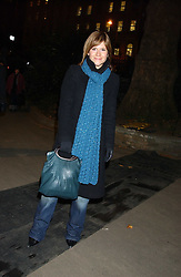 Radio presenter HARRIETT SCOTT at the opening of the Natural History Museum's Ice Rink on 16th November 2005.<br />