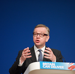 Conservative Party Conference, ICC, Birmingham, Great Britain <br /> Day 4<br /> 9th October 2012 <br /> <br /> Rt Hon Michael Gove MP <br /> Education minister <br /> <br /> <br /> Photograph by Elliott Franks<br /> <br /> United Kingdom<br /> Tel 07802 537 220 <br /> elliott@elliottfranks.com<br /> <br /> ©2012 Elliott Franks<br /> Agency space rates apply