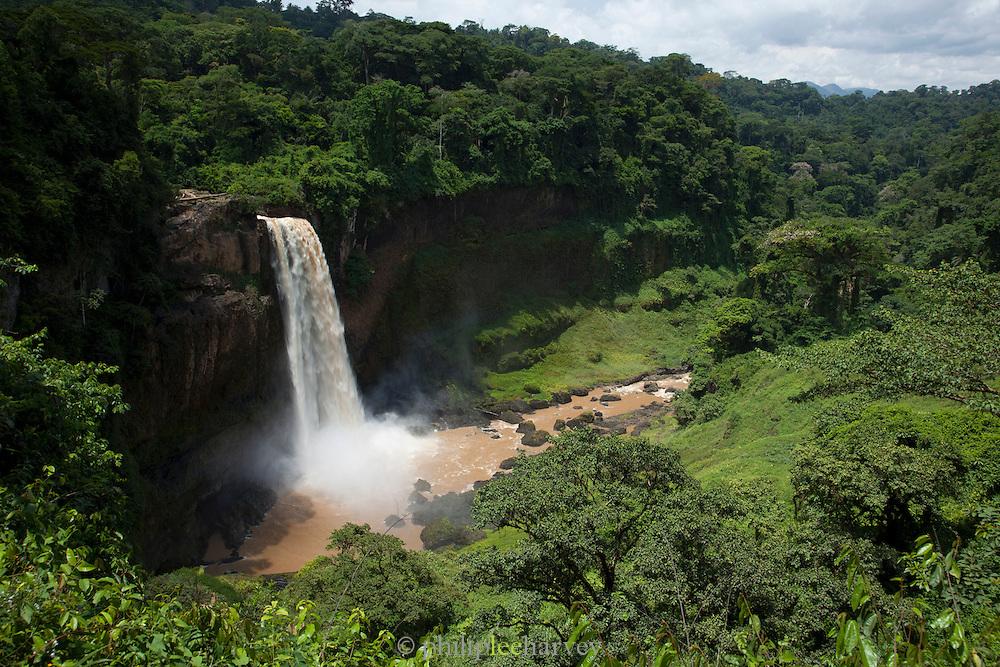 Ekom waterfall in the Littoral Region of Cameroon