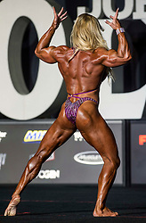 September 15, 2018 - Las Vegas, Nevada, U.S. -  JOANNA ROMANO of Spain competes in the Women's Physique Olympia during Joe Weider's Olympia Fitness and Performance Weekend 2018.(Credit Image: © Brian Cahn/ZUMA Wire)