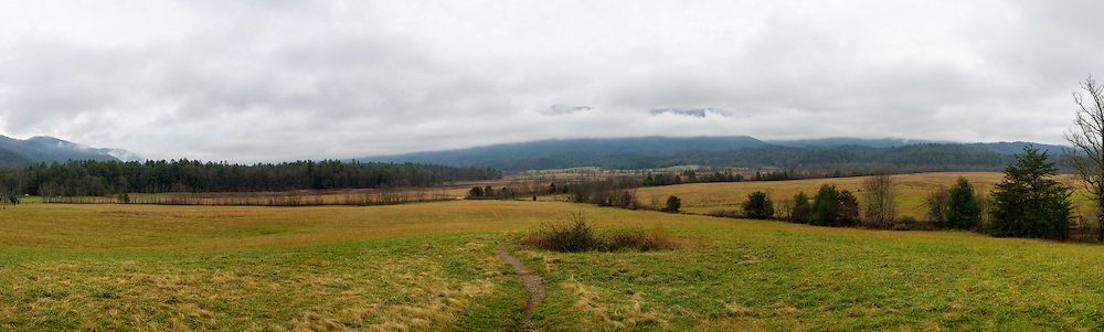 View of the Valley in Cades Cove in Smoky Mountains National Park.