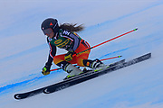 SOELDEN, AUSTRIA. OCTOBER 17 2020:  1st Women's Giant Slalom as part of the Alpine Ski World Cup in Solden on October 17, 2020; Run 1, Candace Crawford (CAN) ( Pierre Teyssot/ESPA Images-Image of Sport)