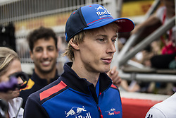 May 10, 2018 - Barcelona, Catalonia, Spain - 28 Brendon Hartley from New Zealand with Scuderia Toro Rosso Honda STR13 portrait during the Spanish Formula One Grand Prix at Circuit de Catalunya on May 10, 2018 in Montmelo, Spain. (Credit Image: © Xavier Bonilla/NurPhoto via ZUMA Press)