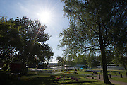 Hazewinkel, Belgium. General View of the the boat storage area at the 2014 European Junior Championships, Bloso, Rowing Course, Heindonk, Willebroek, near Mechelen.<br /> 09:17:31  Sunday  25/05/2014 <br /> [Mandatory Credit: Peter Spurrier/Intersport<br /> Images]