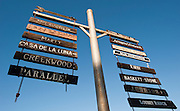 Conn Valley Road wineries sign in Napa Valley, St. Helena, CA