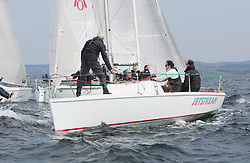 Sailing - SCOTLAND  - 27th May 2018<br /> <br /> 3rd days racing the Scottish Series 2018, organised by the  Clyde Cruising Club, with racing on Loch Fyne from 25th-28th May 2018<br /> <br /> 7102, Jetstream, Justin Venton, PEYC, Hunter 707 OD<br /> <br /> Credit : Marc Turner<br /> <br /> Event is supported by Helly Hansen, Luddon, Silvers Marine, Tunnocks, Hempel and Argyll & Bute Council along with Bowmore, The Botanist and The Botanist