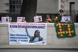 July 3, 2017 - London, United Kingdom - Members of Turkish Scocialist Party protest in front of Downing Street, London on July 3 ,2017. (Credit Image: © Alberto Pezzali/NurPhoto via ZUMA Press)