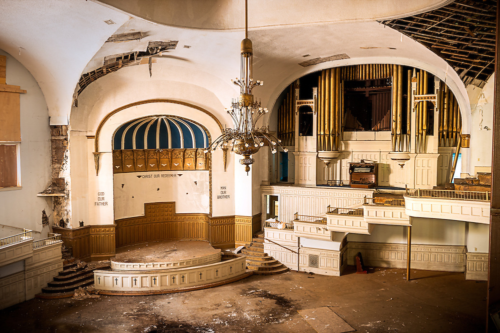 The Abandoned Clayborn Temple in Memphis, TN. Formerly the Second Presbyterian Church.