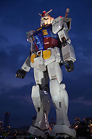 """Gundam was series of Japanese anime created by Sunrise studios that featured giant robots called """"Gundam.""""  An eighteen metre tall  statue of the title robot was installed at Odaiba, Tokyo's landfill island in August 2009."""