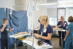 Students training at University of Texas School of Nursing in Houston.