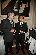 Will Wyatt and Jimmy Choo. Sir Peter Blake and Poppy De Villeneuve host a party with University of the Arts London at the Arts Club, Dover Street, London. 20 APRIL 2006<br />ONE TIME USE ONLY - DO NOT ARCHIVE  © Copyright Photograph by Dafydd Jones 66 Stockwell Park Rd. London SW9 0DA Tel 020 7733 0108 www.dafjones.com
