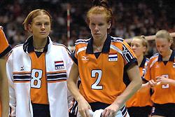 22-06-2000 JAP: OKT Volleybal 2000, Tokyo<br /> Nederland - Korea 3-1 / Marrit Leenstra en Jettie Fokkens