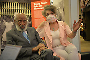"6/19-20/2020 Jackson MS.<br /> James Meredith, civil rights icon and the first Black to attend Ole Miss University speaks with a reporter from Reuters News Agency at the Mississippi Civil Rights Museum. Also pictured is Meredith wife Judy. Photos in their home from 6/20/2020 interview.<br /> <br /> May 28, 2020 5/28/2020 Jackson, MS<br /> Mississippi native son and civil rights icon, James Meredith, 86, speaks about Covid -19 and how the world will never be the same. He also spoke about the murder of  George Floyd in Minnesota and how it is another example of ""holding down a black man,"" oppression and racism in America. James stresses that it is time for African American Christians to stand up and raise the moral character of their race and lead and by example. He feels the first step is to follow the golden rules and 10 commandments and Mississippi is the center of the Universe. He also stated that it is imperative the African American community votes, in all elections. James will be turning 87 on June 25th and plans on starting his last mission from God then and self publishing his 28th book. His mission involves him traveling to all 82 counties in Mississippi and spreading his message from God and his plan to fix the black/white race issue in America. Photo ©Suzi Altman"