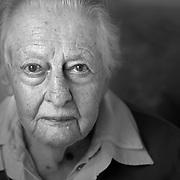 Nederland - Bosch en Duin - Utrecht - 25-04-2013<br /> <br /> Mevr. Conny van Vijzel ( 95 jaar ) ,voormalig NSB lid.<br /> <br /> <br /> Foto : Sake Elzinga