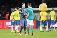 Kevin Trapp and Julian Draxler (Germany) after the International Friendly Game football match between Germany and Brazil on march 27, 2018 at Olympic stadium in Berlin, Germany - Photo Laurent Lairys / ProSportsImages / DPPI