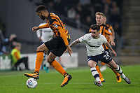 Preston North End's Sean Maguire chasing down Hull City's Fraizer Campbell<br /> <br /> Photographer Andrew Kearns/CameraSport<br /> <br /> The EFL Sky Bet Championship - Hull City v Preston North End - Tuesday 26th September 2017 - KC Stadium - Hull<br /> <br /> World Copyright © 2017 CameraSport. All rights reserved. 43 Linden Ave. Countesthorpe. Leicester. England. LE8 5PG - Tel: +44 (0) 116 277 4147 - admin@camerasport.com - www.camerasport.com