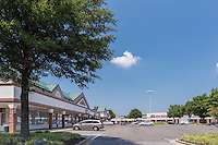 Exterior image of Penn Station Plaza Shopping Center in DC area by Jeffrey Sauers of Commercial Photographics, Architectural Photo Artistry in Washington DC, Virginia to Florida and PA to New England