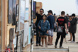 Surf City Blitz and RSD Moto Beach Classic art show. Huntington Beach, CA, USA. Sunday October 28, 2018. Photography ©2018 Michael Lichter.