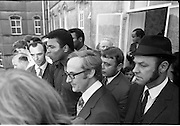 15/07/1972<br /> 07/15/1972<br /> 15 July 1972<br /> Muhammad Ali at Stewarts Hospital Fete, Palmerstown, Dublin. Ali greets the crowds with members of his entourage.