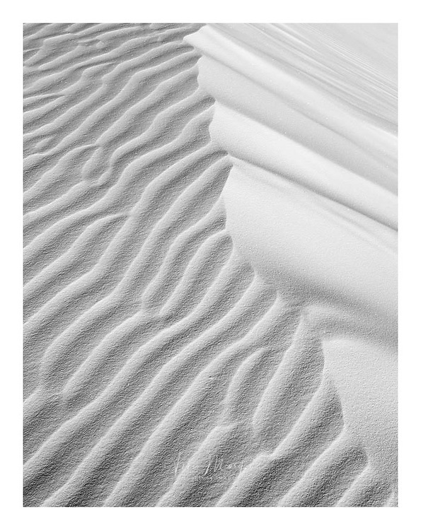 abstract patterns of the gypsum dunes at White Sands National Monument, New Mexico