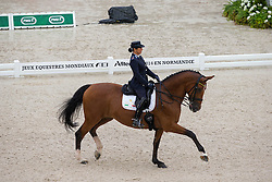 Ester Soldi, (ITA), Harmonia - Grand Prix Team Competition Dressage - Alltech FEI World Equestrian Games™ 2014 - Normandy, France.<br /> © Hippo Foto Team - Leanjo de Koster<br /> 25/06/14