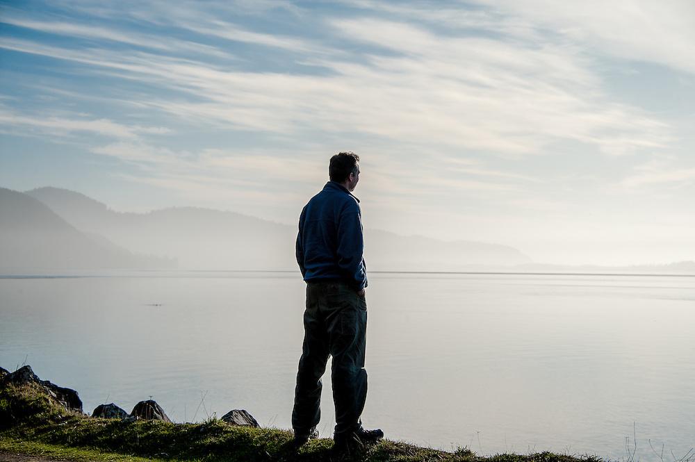 Sam Barker looking out at Netarts Bay