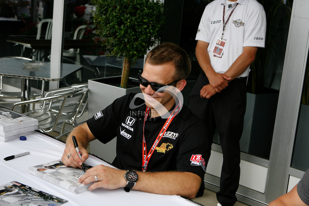 Photos of Fuzzy's Vodka driver Ed Carpenter at the Indy 500 Community Day . Corporate event photography by Infiniti Images