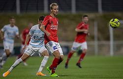Mads Kaalund (Silkeborg IF) under kampen i 1. Division mellem FC Helsingør og Silkeborg IF den 11. september 2020 på Helsingør Stadion (Foto: Claus Birch).