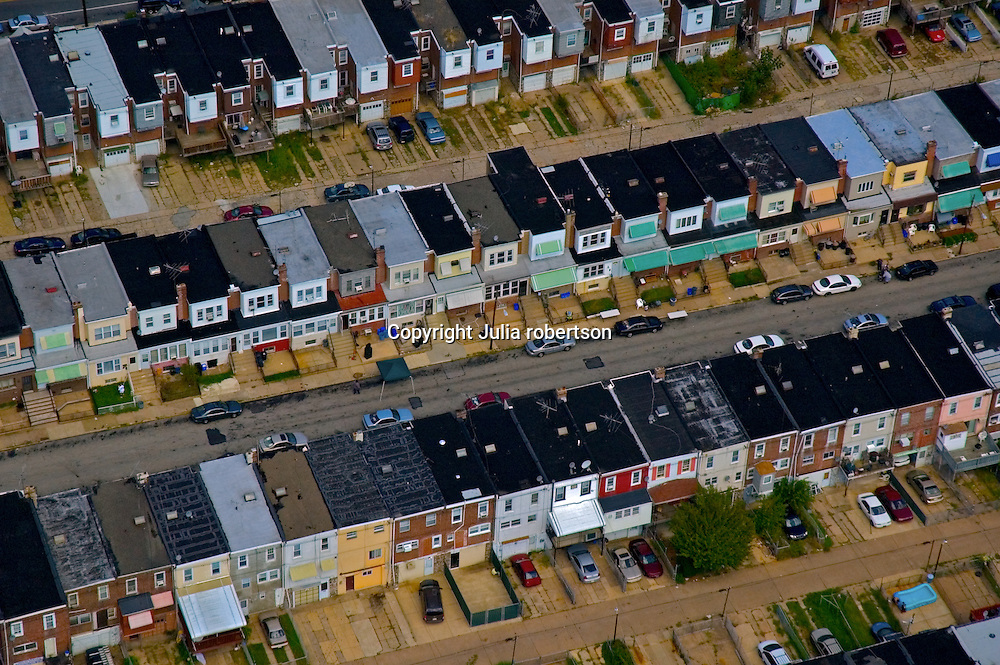 AErial view of South Philadelphia Row homes
