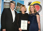 NO FEE PICTURES<br /> 25/1/19 Isabel Conway, winner of Best Skiing, presented by Michelle Anderson of Topflight and Gastein Tourist Board Austria and Eoghan Corry, editor of Travel Extra pictured at the Travel Extra Travel Journalist of the Year 2018 at the Clayton Hotel, Ballsbridge in Dublin. Picture; Arthur Carron