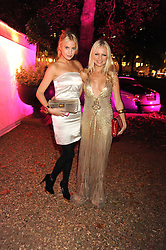 Left to right, MARISSA MONTGOMERY and HANNAH SANDLING at the End of Summer Ball in support of The Prince's Trust in Berkeley Square, London on 25th September 2008.