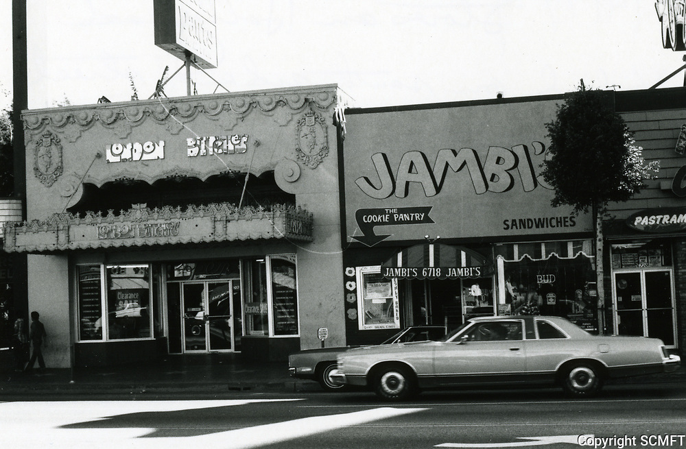1979 London Britches & Jambi on Hollywood Blvd. just east of McCadden Pl.