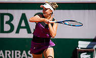 Clara Burel of France in action during the third round of doubles at the Roland-Garros 2021, Grand Slam tennis tournament on June 6, 2021 at Roland-Garros stadium in Paris, France - Photo Rob Prange / Spain ProSportsImages / DPPI / ProSportsImages / DPPI