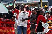 Samwu strike in Port Elizabeth South Africa