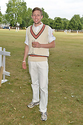 GEORGE FROST at the Flannels For Heroes cricket competition in association with Dockers held at Burton Court, Chelsea, London on 19th June 2015