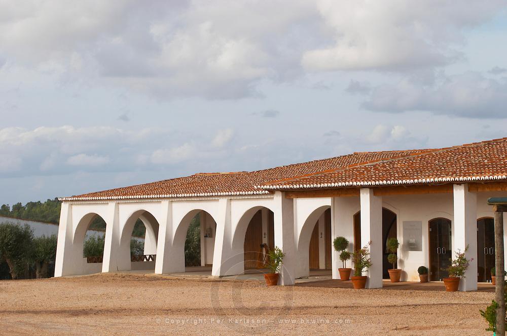 Winery and restaurant building. Herdade da Malhadinha Nova, Alentejo, Portugal