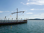 Replica of Argo, a prehistoric vessel of the 15th century BC, Volos, Greece