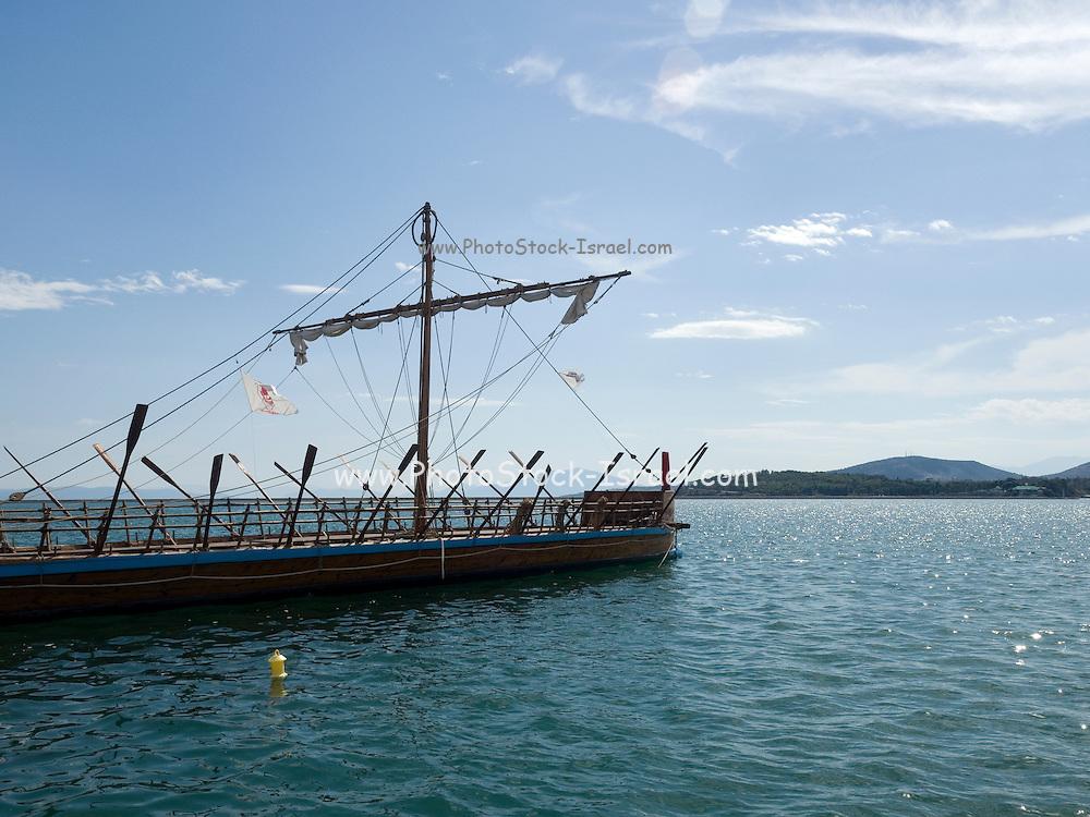 Replica of Argo, a prehistoric vessel of the 15th century BC, Volos, Greece