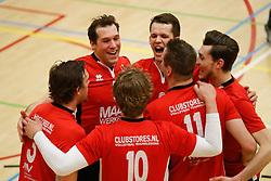 20180324 NED: Topdivisie Maatwerkers VCN - Next Volley Dordrecht, Capelle aan den IJssel <br />Vreugde bij Maatwerkers VCN, oa Daan Spijkers (5), Lucas Vroom (2) of Maatwerkers VCN <br />©2018-FotoHoogendoorn.nl / Pim Waslander