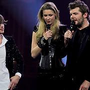 NLD/Amsterdam/20100415 - Uitreiking 3FM Awards 2010, Giel Beelen, Annemieke Schollaardt en Sander Lantinga
