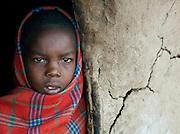Young Maasai child, Oyaratta village near Maasai Mara National Reserve, Kenya