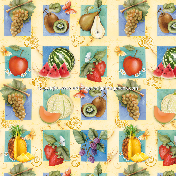 repeated art for table cloth