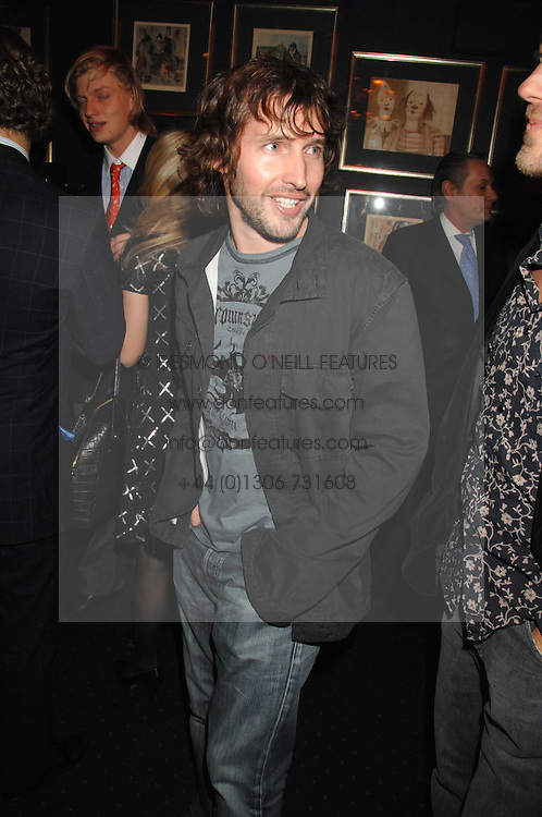 Singer JAMES BLUNT at a party to celebrate the publication of the 2007 Tatler Little Black Book held at Tramp, 40 Jermyn Street, London on 7th November 2007.<br /><br />NON EXCLUSIVE - WORLD RIGHTS